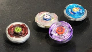 Earth Eagle vs Lightning Ldrago vs Strom Pegasus vs Rock Scorpio! Metal Fight Beyblade 4 Way Battle! thumbnail