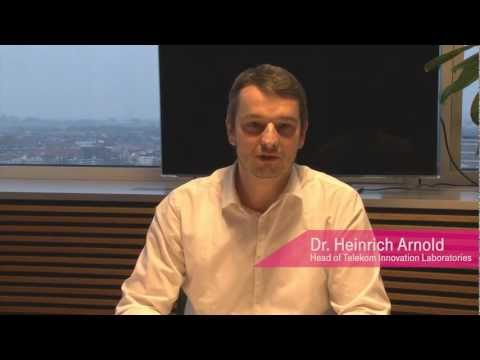 Dr. Heinrich Arnold's call for applicants for Telekom Innovation Contest