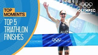Top 5 triathlon finishes at the Olympic Games | Top Moments