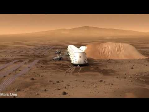 Simulated flyby of Mars One's first human settlement