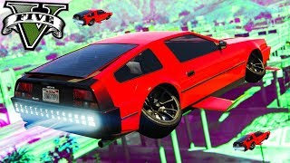 NEW FLYING HOVER CAR (Back To The Future) - GTA 5 Online Funny Moments