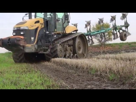 Ploughing in Paddy 2014 - Challenger MT765B + MGM 5 - Furrows