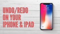 How to Undo or Redo on iPhone or iPad