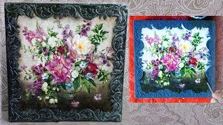 Decorative panel picture DIY. Decoupage tutorial