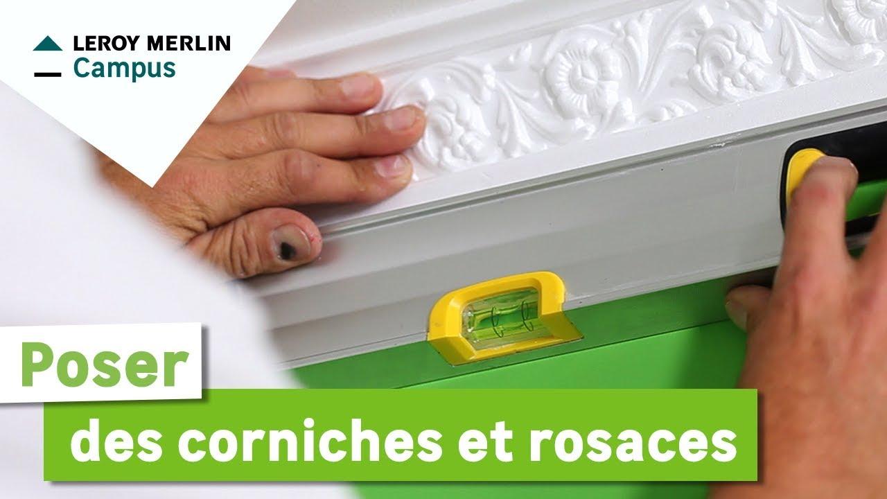 Comment poser des corniches et rosaces youtube - Corniche polystyrene leroy merlin ...
