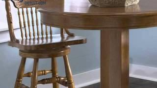 Liberty Furniture Nostalgia 5pc Casual Dining Room In Medium Oak Finish