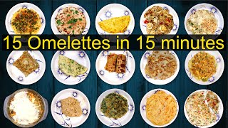 15 Omelette Recipes | Variety Omelette recipes | Different types of omelette recipe | Ramyas Kitchen