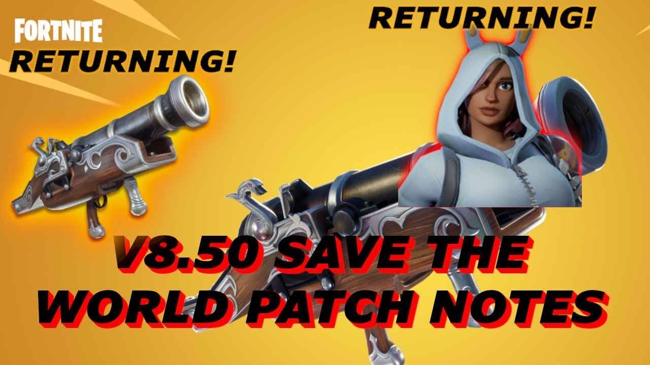 Fortnite Patch Notes 850 Save The World | Fortnite Free Flow