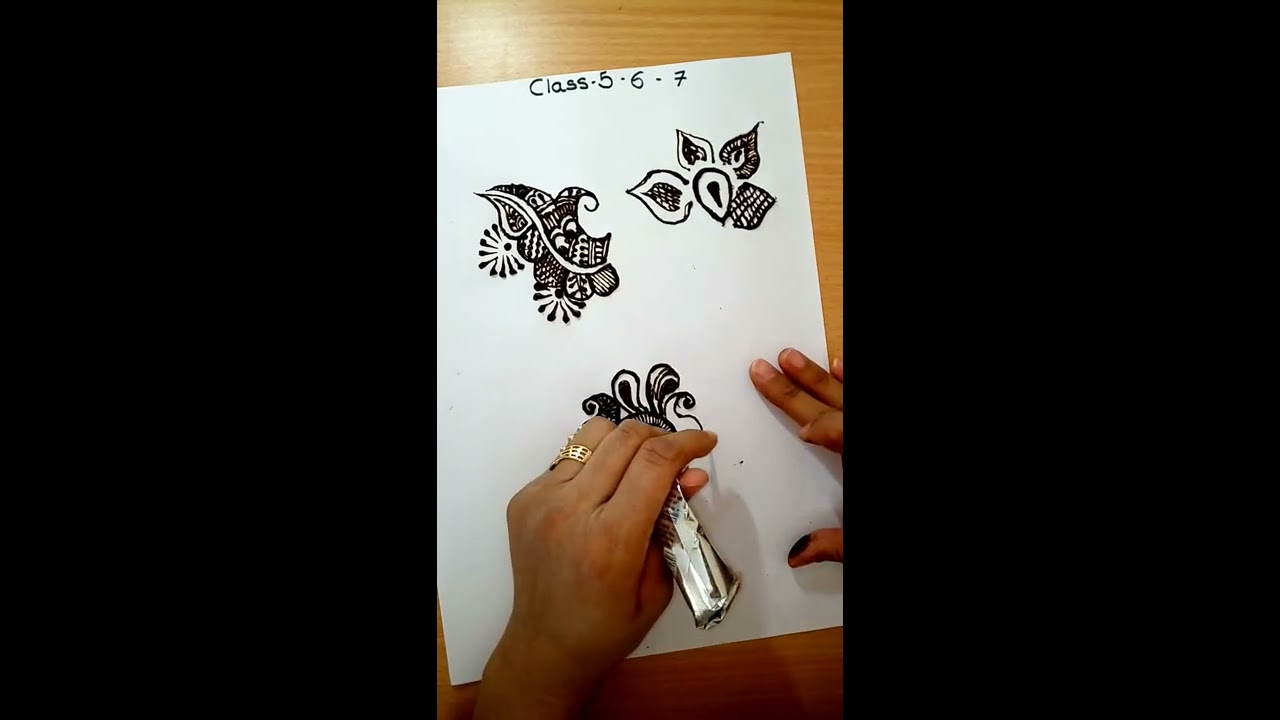 How To Draw Mehandi In Hindi Class 7 Richagandhi In Youtube