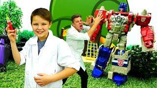 Кирилл попробовал Зелье Вредности! Видео с игрушками Трансформеры.