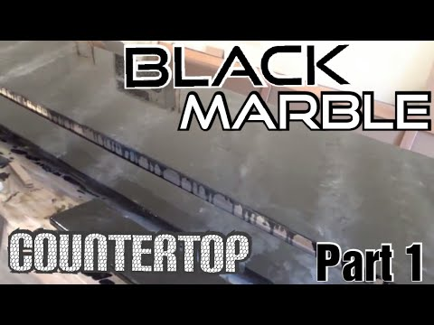 How to Epoxy Your Own Black Marble Countertop- Part 1