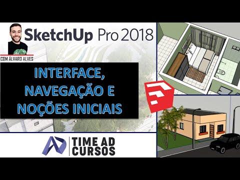 Aula 01 - Interface, navegação e noções iniciais   SketchUp 2018