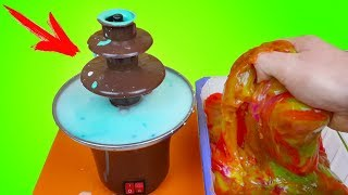 Шоколадный Фонтан из Неньютоновской Жидкости и Огромного Лизуна  Что если сделать!