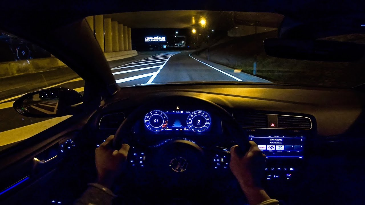 Vw Golf R Mk7 5 2 0 Tsi 310hp Akrapovic Night Drive Pov By Autotopnl Youtube