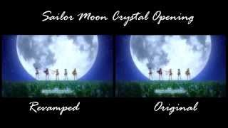 Sailor Moon Crystal Opening Comparison