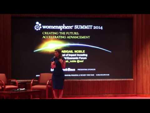 Abigail Noble, Head of Impact Investing, World Economic Forum
