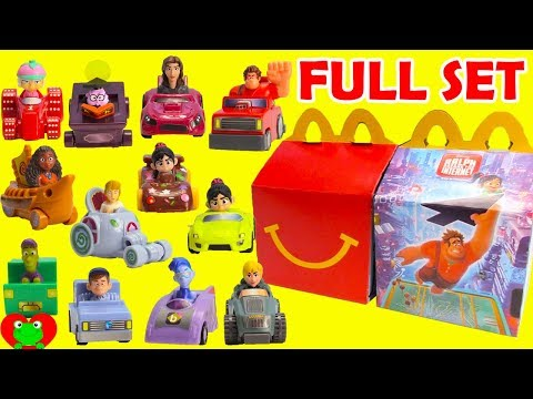 2018 Ralph Breaks the Internet Movie McDonalds Happy Meal Toys Full Set