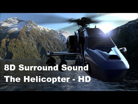 8D Surround Sound Effects || The Helicopter  || 1080 HD Video ||