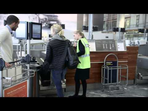 Self Service BagDrop from DSG, Oslo Airport, Norway