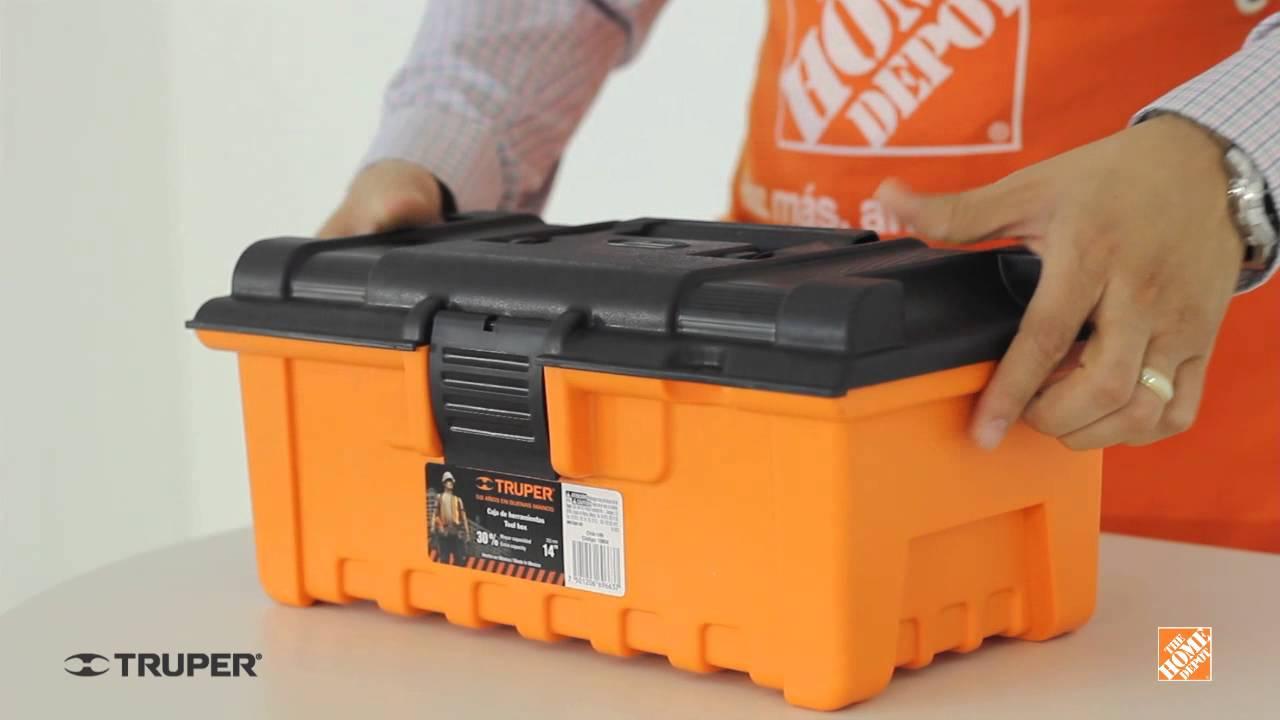 Caja de herramientas 14 truper youtube for Home depot herramientas