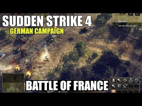 """Sudden Strike 4 German Campaign """"Battle of France"""" Mission"""