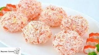 Крабово сырный салат шариками
