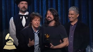 Paul McCartney, Dave Grohl, Krist Novoselic and Pat Smear Win Best Rock Song | GRAMMYs