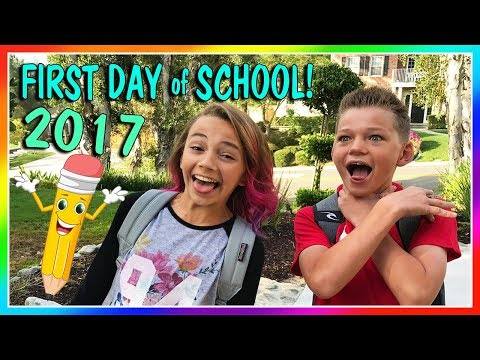 KAYLA AND TYLER'S FIRST DAY OF SCHOOL 2017 | We Are The Davi