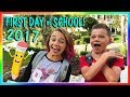 KAYLA AND TYLER'S FIRST DAY OF SCHOOL 2017 | We Are The Davises