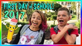 KAYLA AND TYLER'S FIRST DAY OF SCHOOL 2017   We Are The Davises