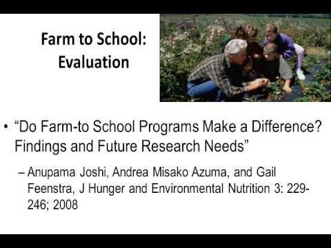 Improving Children's Nutrition thru School-Based Agriculture Programs - Sheri Zidenberg-Cherr, PhD