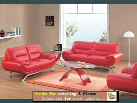 Sofa Designs And Collection | Leather Sofa Red Romance