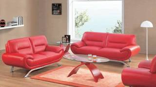 Sofa Designs And Collection   Leather Sofa Red Romance