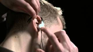 kEF M200 hi-fi earphones - The correct way to wear in-ear headphones