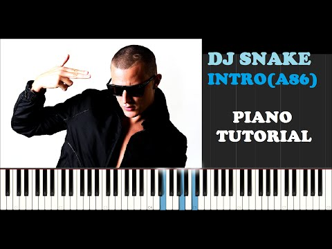 Dj Snake - Encore (a86) Intro (Piano Tutorial With Synthesia) How I Played It