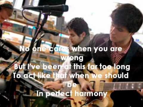 Vampire Weekend I Stand Corrected (lyrics)