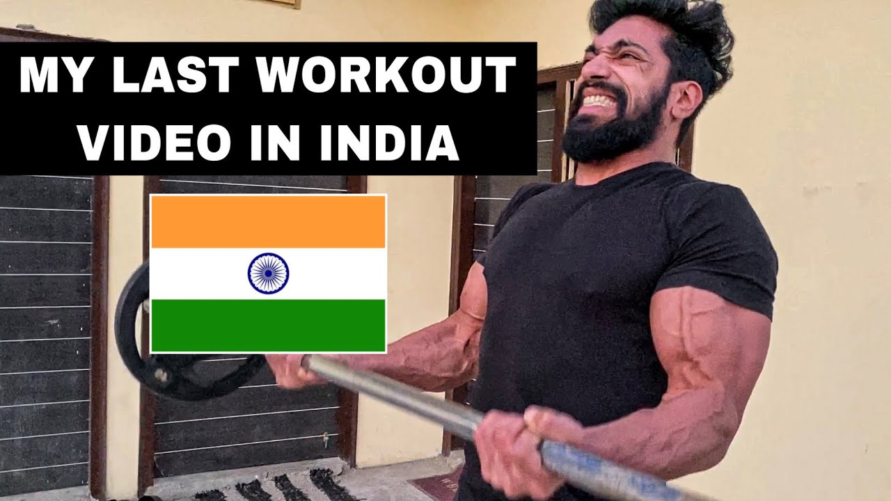 My Last Workout Video In INDIA 🇮🇳 (TRAIN WITH ME)
