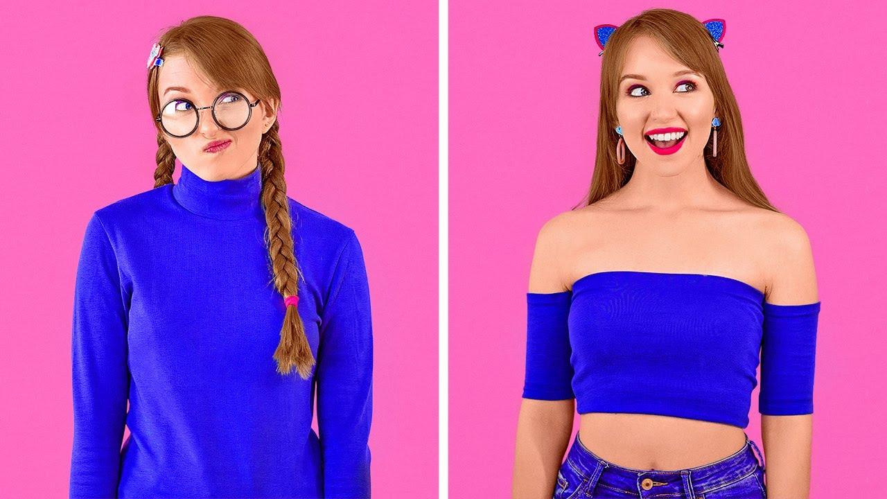 बढ़िया कपड़ों के DIY हैक्स || लड़कियों के कपड़ों के बदलाव करने के आइडिया 123 GO!