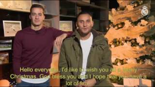 Season's greetings from Keylor Navas and Lucas Vázquez!