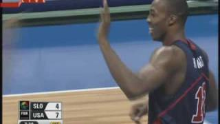 Dwight Howard (USA Team) MONSTER Block vs Slovenia