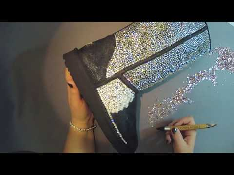 Timelapse, Add Bling To Ugg Boots With Swarovski Crystals