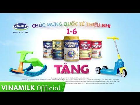 Quảng cáo sữa Vinamilk - Khuyến mãi Tết thiếu nhi 1/6 - Quà Tết thiếu nhi, vui khoẻ hết ý