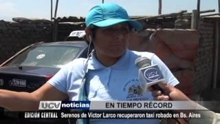 Serenazgo Victor Larco RECUPERAN TAXI  Ucv Satelital 09set