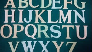 A-Z Letter Cutting -Times New Roman Font Style