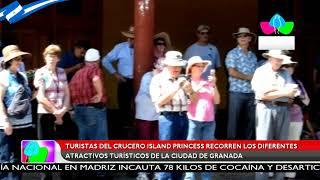 Turistas del crucero Island Princess recorren los atractivos turísticos de la ciudad de Granada