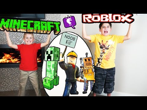 ROBLOX Or MINECRAFT Giant Egg Review! Who's Your Favorite?
