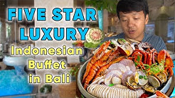 FIVE STAR LUXURY Indonesian SUNDAY BRUNCH BUFFET in Bali | ALL YOU CAN EAT!