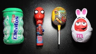 Learn Colors with Candy Chupa Chups Lollipops M&Ms Chocolate