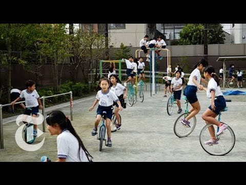 One-Wheeled Fun for Students in Japan | The New York Times