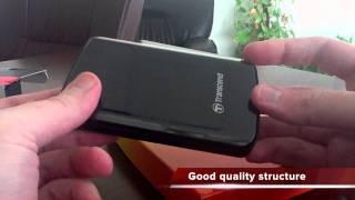 Transcend StoreJet 25F 320GB External Hard Drive Unboxing - TS320GSJ25F thumbnail